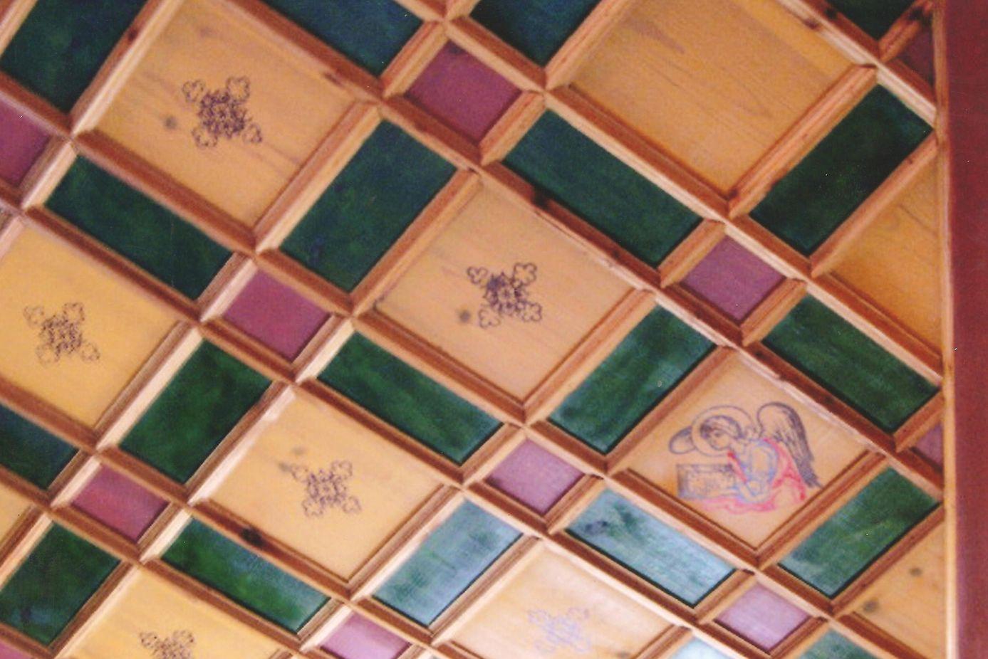 Λεπτομέρεια από το παραδοσιακό ταβάνι.