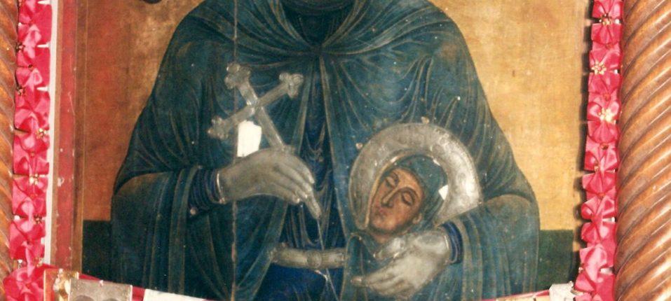 Ιερά Θαυματουργή Εικόνα της Αγίας Παρασκευής 2η σειρά του τέμπλου (1882).