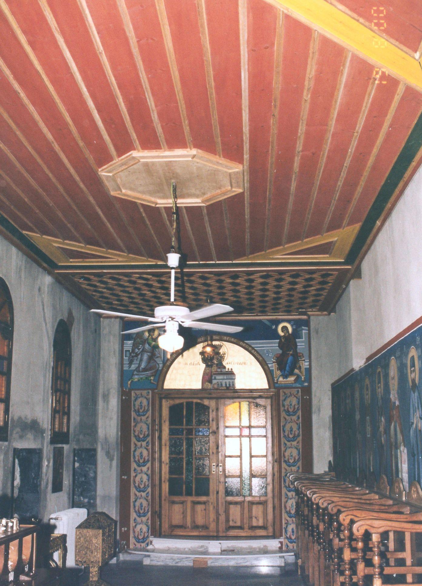 Είσοδος του παρεκκλησίου της Αγίας Θεοφανώς. Αριστερό κλίτος του Ναού.